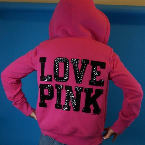 6cbc04476 PINK Victoria s Secret faux fur hoodie. M 5b8f3c4d04e33d20259b1b0f
